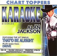 Karaoke Singles  ALAN JACKSON (CD 2003)   NEW-SEALED!