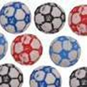 10 x 10mm Football Pony Beads Mixed packs or single colour