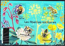 France 2016 new MNH Bees on flowers ,Insects souvenir sheet of 4 stamps de Luxe