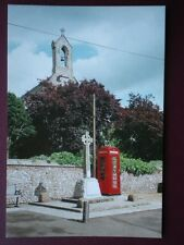 POSTCARD NORFOLK STOKE FERRY SHOWING LISTED TELEPHONE BOX - WAR MEMORIAL & BELL