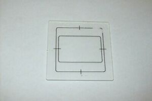 EARLY 53X53mm MEDIUM FORMAT TLR CAMERA GROUND GLASS FOCUSING SCREEN