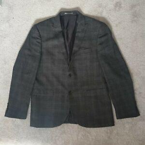 "Next Mens Wool Blend Charcoal Blazer - Size 42"" Short - Slim Fit"