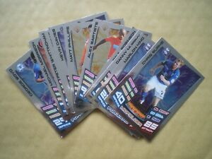 MATCH  ATTAX 2012-2013 CHAMPIONSHIP CARDS, COLLECTION OF 13 STAR PLAYERS CARDS