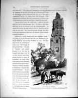 Original Old Antique Print *1109 Palestine 1881 Tower Ramleh Minaret Mosque