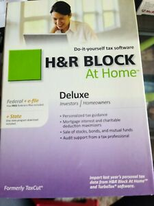 H&R Block Block At Home Deluxe (Retail) (1 User/s) - Competitive Upgrade Versio…
