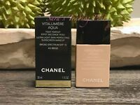 1 CHANEL VITALUMIERE AQUA Teint Ultra-Light Perfecting Makeup 1oz SPF 15+🎁 1/22