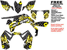 DFR BOMBER GRAPHIC KIT BLACK/YELLOW SIDES/FENDERS SUZUKI LTR450 LTR 450