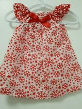 Handmade  Red And white Christmas Pillowcase Dress Size 000, 0