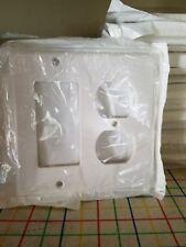 40 Leviton Decora White Gfci & Duplex Receptacle Wallplates Outlet Cover 80455-W