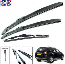 "Dacia Duster 2010-2017 hybrid wiper blades set of front & rear 20""20""14"""