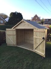 Wooden Bike Shed 7x3 Tanalised Pressure Treated Timber - Fully T&G Hut Store