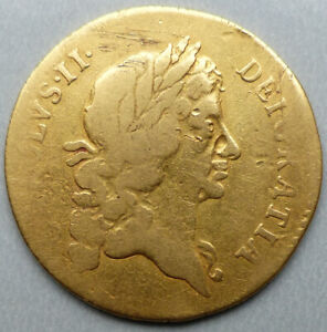 Charles II, 1668 Gold Guinea Coin