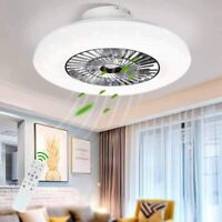 23'' Modern LED Ceiling Fan Light Chandelier Round Star Lamp with Remote Control