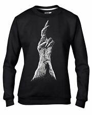 Devils Claw with Grim Reaper Goth Halloween Womens Sweatshirt