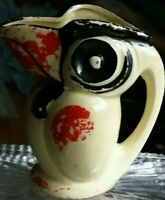 Vintage ceramic TOUCAN KOOKABURRA PITCHER CREAMER MADE IN JAPAN