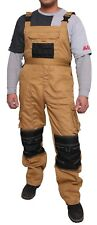 Mens Work Dungarees Bib and Brace Overall Working Trousers Worker Pants