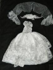 Artist made Robert Tonner Ellowyne Long Torso Strapless gown w/hairpiece & Stole