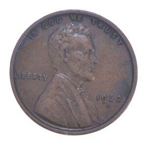 Semi Key 1922-D VF/XF Lincoln Wheat Cent - Sharp *423