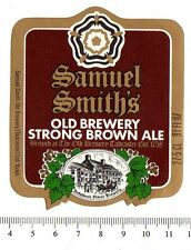 UK Beer Label - Samuel Smith's Brewery - Yorks. - Old Brewery Strong Brown Ale b