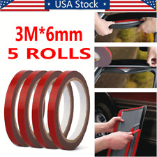 5 Rolls 3m*6mm Automotive Acrylic Plus Double Sided Attachment Tape Car Truck