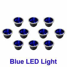 10 NEW BLUE LED LIGHT MARINE BOAT RV CAMPER CUP DRINK HOLDER LIGHTS UP BLUE