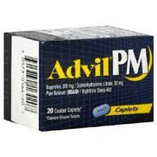 Advil PM Pain Reliever/Nighttime Sleep-Aid, Coated Caplets