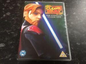 Star Wars: The Clone Wars - The Complete Season 5 Five - Pal UK Region Code 2 -