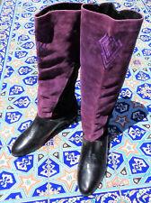 Divertente Studio Black and Wine colored Boots Women's size 10M