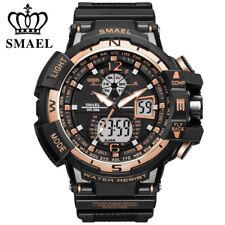 SMAEL Men Digital Wristwatch LED Dual Time Man Sport Watch Shockproof Watches