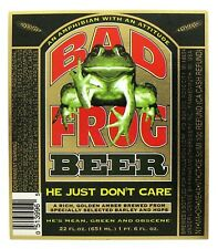 Wauldron Corp by Frankenmuth Brewery BAD FROG BEER label MI 22oz