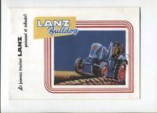 N°10607 / dépliant tracteur LANZ Bulldog D1616 reprint 2009