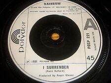 "RAINBOW - I SURRENDER     7"" VINYL"