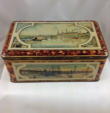 BISCUITS LEFEVRE-UTILE  NANTES  BISCUIT TIN FRANCE c1905 CITY VIEWS