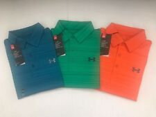 NEW UNDER ARMOUR MEN LOOSE HEAT GEAR PRINTED GOLF S/S SHIRT SZ S_2XL $54.99 NWT