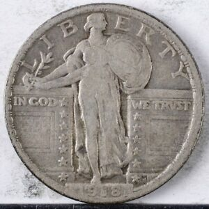 1918 Standing Liberty Quarter F +