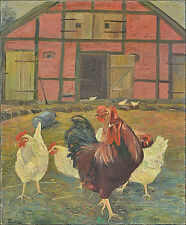 Originale künstlerische Öl-Malerei mit Tier-der Zeit 1900-1949