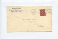 1909 Speaker's Room  House of Representatives corner stamp cover