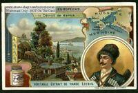 Strait of Kertch Black Sea Map NICE 1905 Trade Ad Card