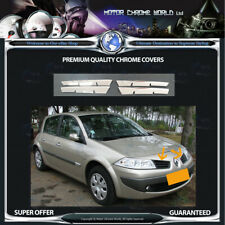 RENAULT MEGANE CHROME GRILLE COVER HIGH QUALITY 5Y GUARANTEE 2002-2007 OFFER NEW