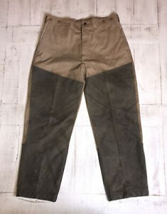 Filson Style 575 Shelter Cloth Waxed Oil Finish Pants Size 34 Measured And Shown