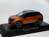 RARE Peugeot 2008 GT  de 2019  Orange au 1/43 de NOREV 4728601 / 19MICO903