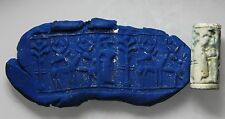 ZURQIEH - cy6- ANCIENT CANAANITE FAIENCE CYLINDER SEAL. 1700 - 1550 B.C