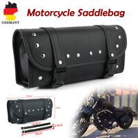 Motorrad Roll Satteltasche Werkzeugrolle Seiten Gepäckrolle PU Leder Für Harley