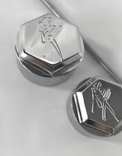 99-07-08-17 Hayabusa Chrome 3D Hex Smooth LH & RH Motor Mount Frame Covers Caps