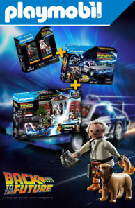 PLAYMOBIL / Back to the Future - Delorean + Playset + Figures - Collector 2020