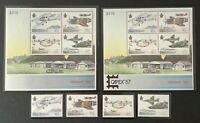 New Zealand. Anniver of Airforce Set & Mini Sheets. SG1423/26. 1987. MNH. #LC384