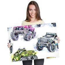 A1 - Monster Truck Kids Van Car Poster 60X90cm180gsm Print #8186