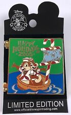 Disney Pin: WDW Happy Holidays 2005 Greeting Card Yacht Club Resort Chip n Dale