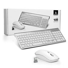 ffcdffce6a2 Full Size Slim Wireless Keyboard and Compact Mouse Combo Set for Mac Apple  PC