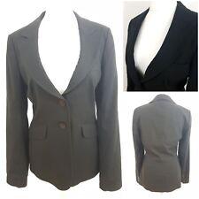 Long Tall Sally Womens Black Blazer Jacket Smart Work with Linen Evening Size 12